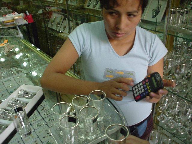 銀製品はペルーの名物